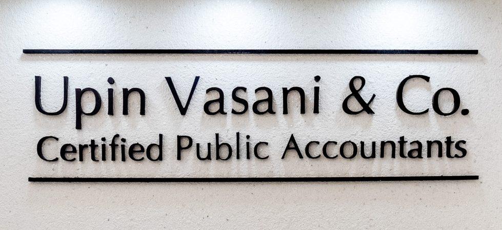 Upin Vasani & Co. : Certified Public Accountants